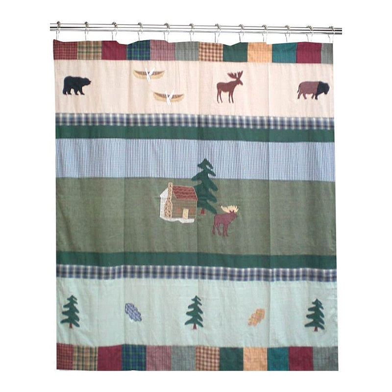 Northwoods Walk Cool Shower Curtain
