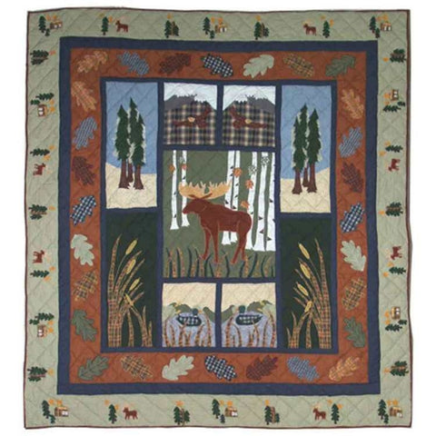 Moose Quilted Throw
