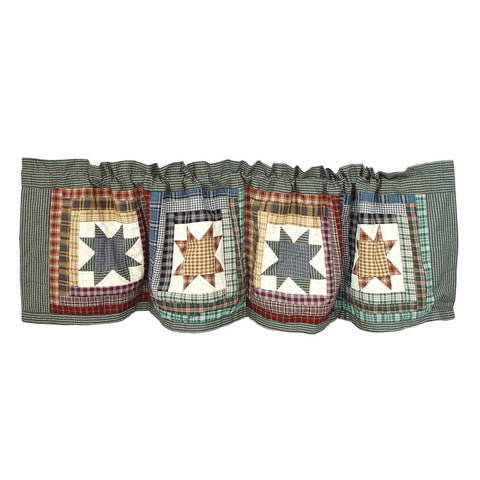 Cottage Star Curtain Valance