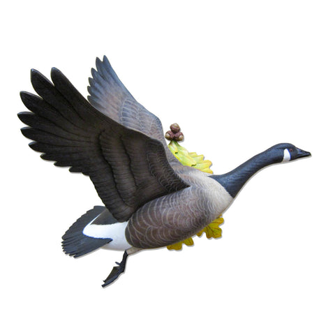 Flying Canada Goose Wall Mount Waterfowl Sculpture