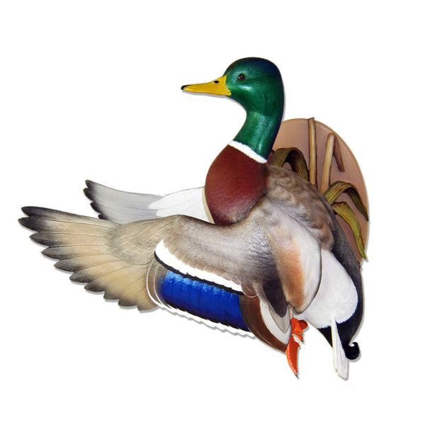 Flying Mallard Wall Mount Waterfowl Sculpture
