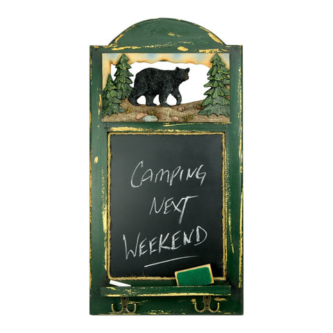 Bear Chalkboard with Hooks