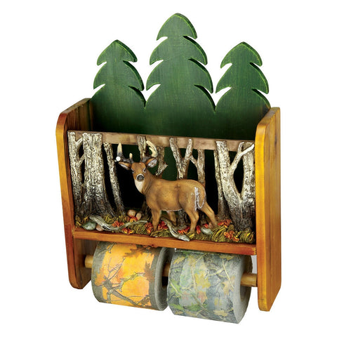 Deer Magazine Rack Toilet Paper Holder Combo