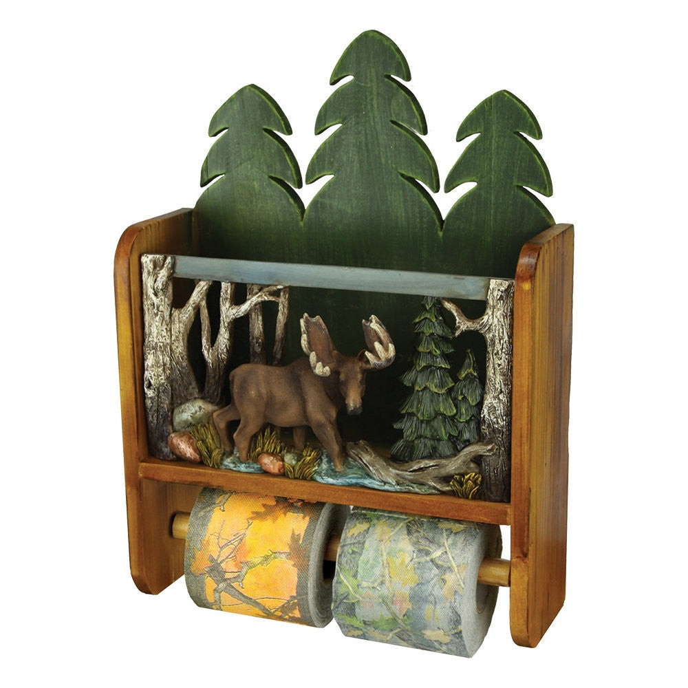 Moose Magazine Rack Toilet Paper Holder Combo