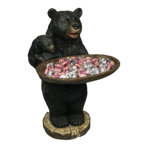 "Bear Holding Tray 20""H"