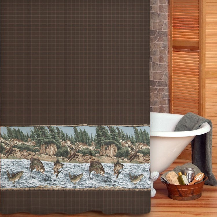 River Fishing Shower Curtain