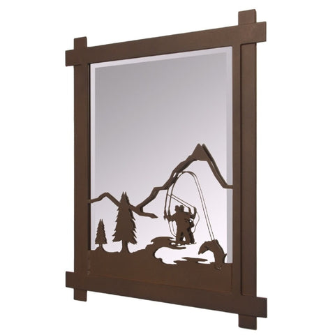 Fly Fisherman Mirror (Available in 5 finishes)