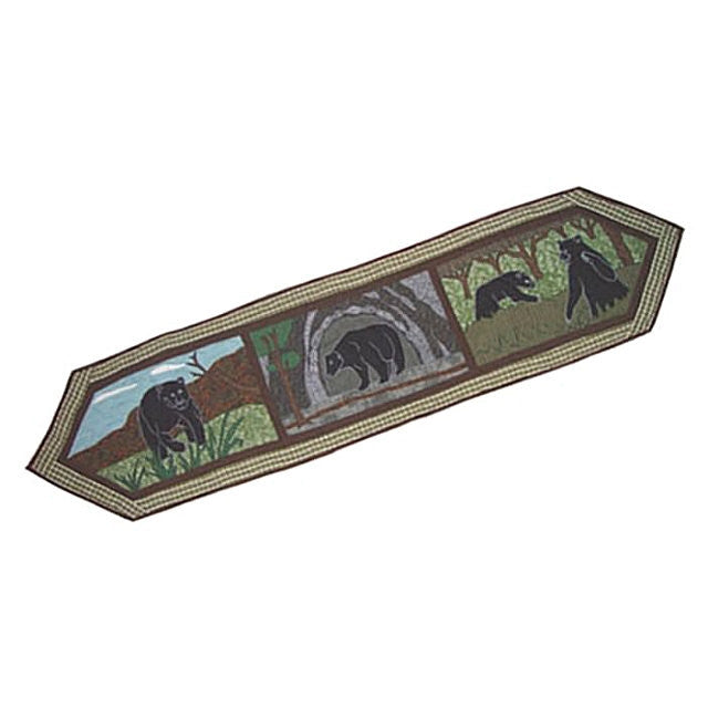 "Bear Country Table Runner 72"" x 16"""