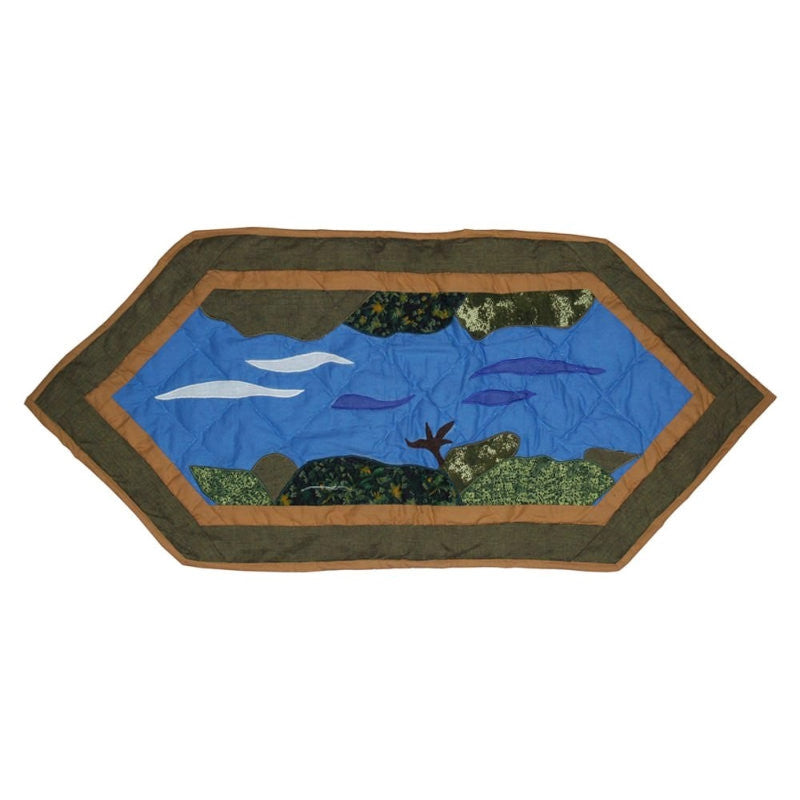 "Fly Fishing Table Runner 36"" x 16"""