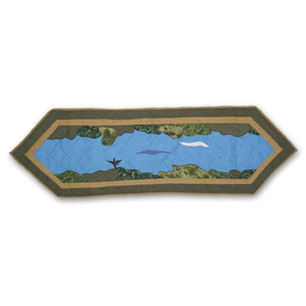 "Fly Fishing Table Runner 54"" x 16"""