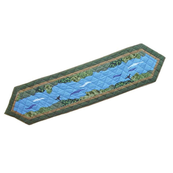 "Fly Fishing Table Runner 72"" x 16"""