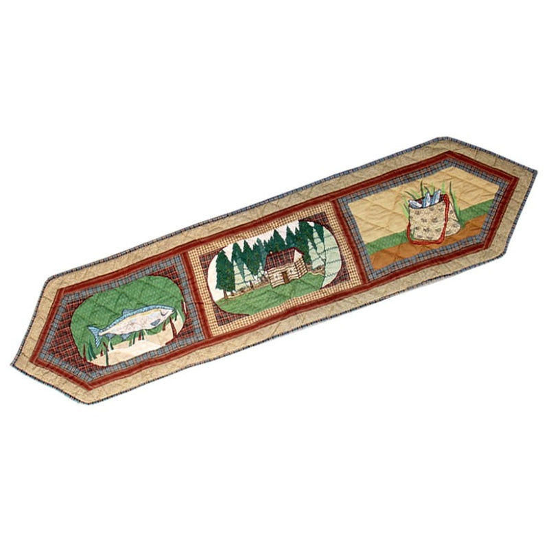 "Gone Fishing Table Runner 72"" x 16"""