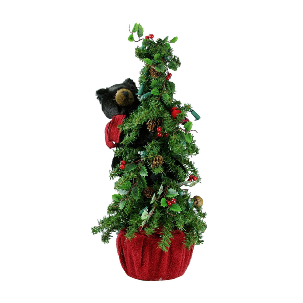 Tabletop Bearly Christmas Black Bear Tree 24""