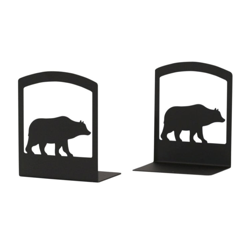 Wrought Iron Bear Bookends