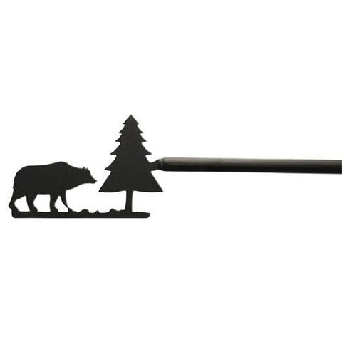 Bear & Pine Curtain Rod with Hardware Available in 4 Extensions