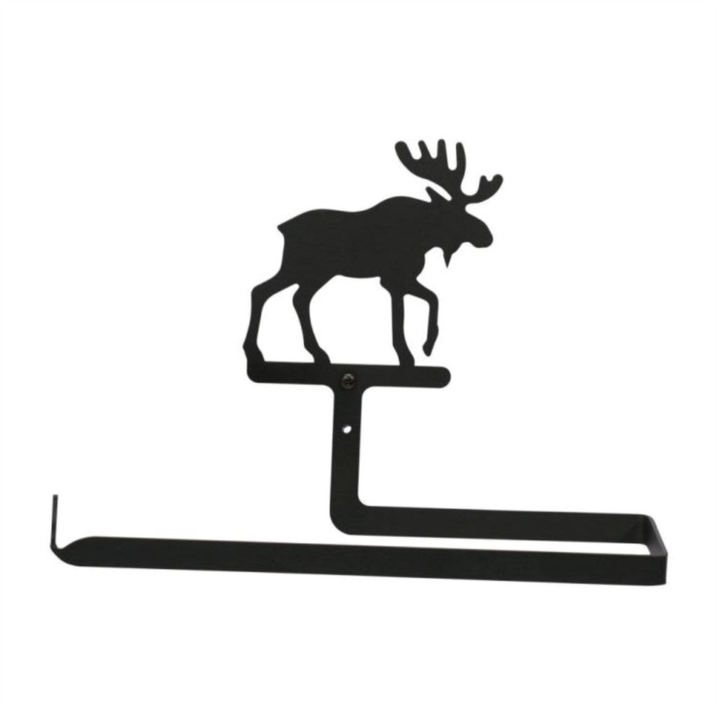 Wrought Iron Moose Paper Towel Holder Horizontal Wall Mount