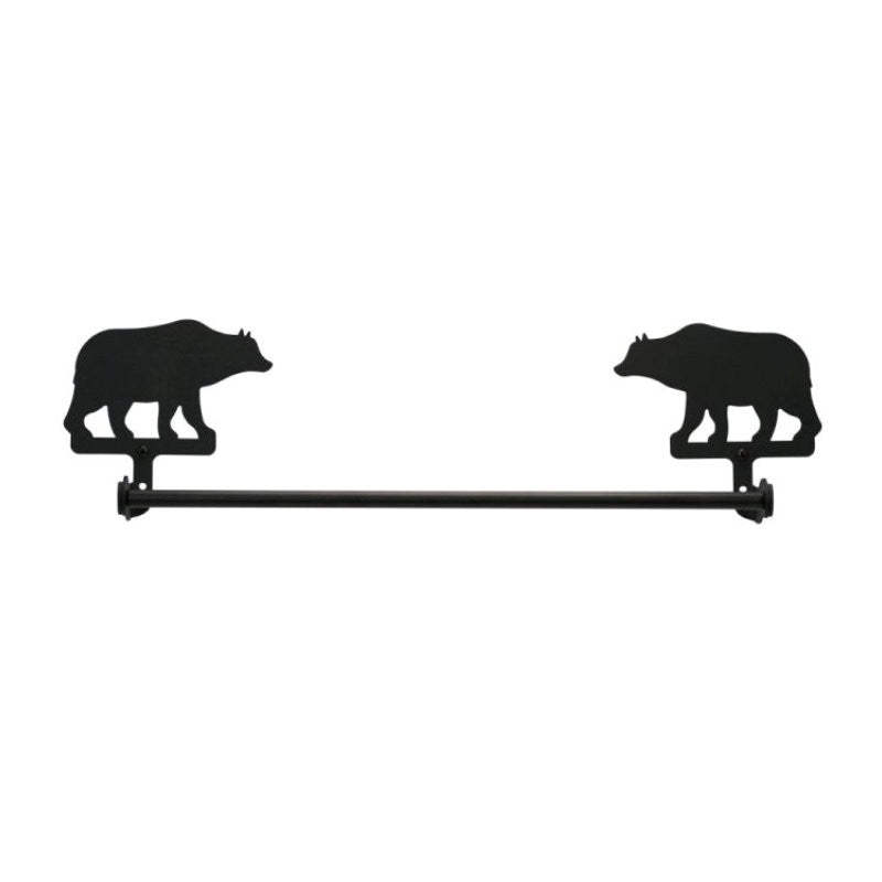 Wrought Iron Bear Towel Bar