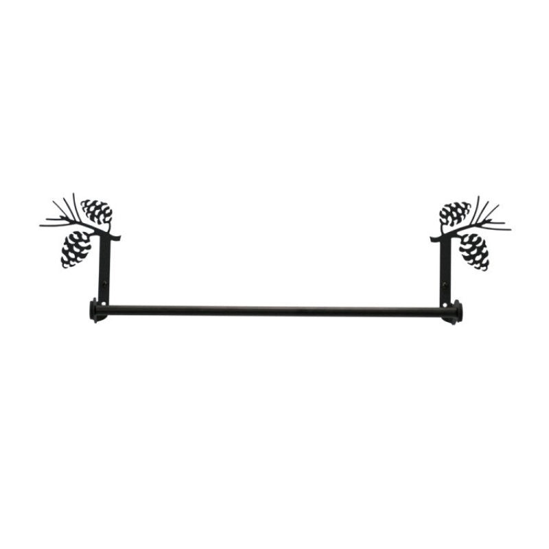 Wrought Iron Pine Cone Towel Bar