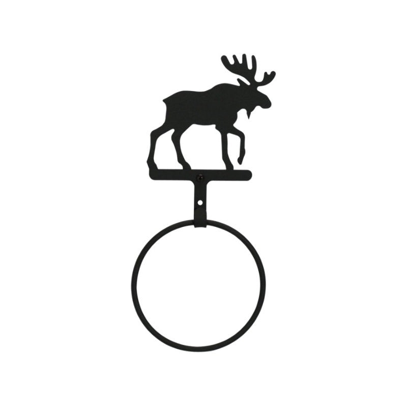 Wrought Iron Moose Towel Ring