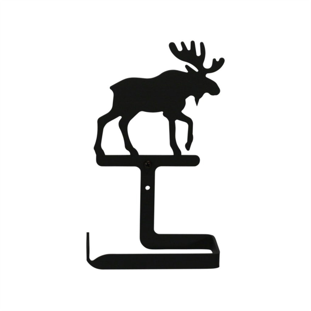 Wrought Iron Traditional Moose Toilet Tissue Holder