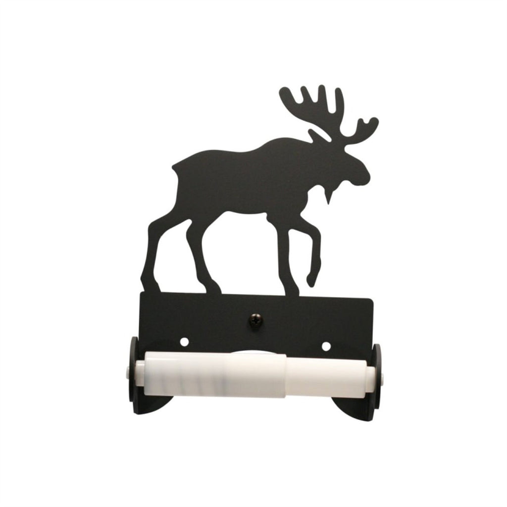 Wrought Iron Moose Toilet Tissue Holder