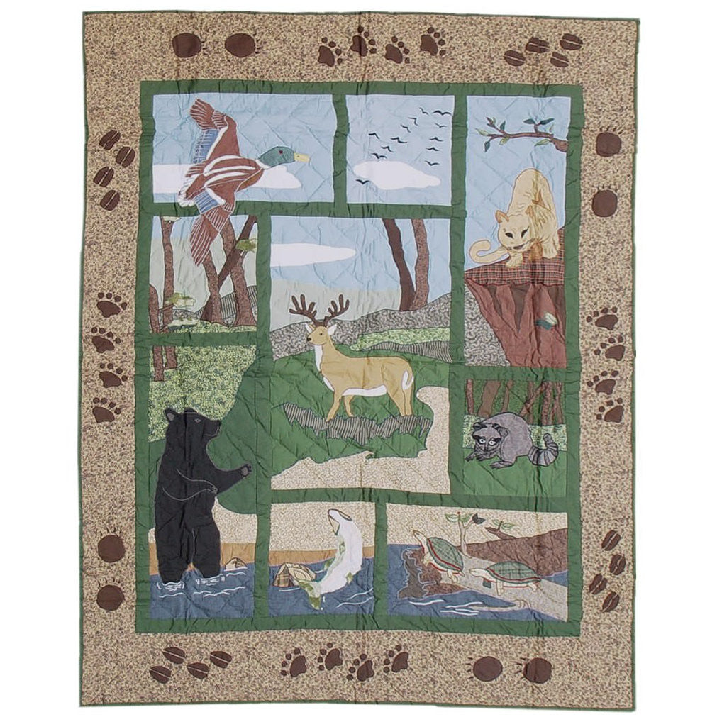 Wilderness Quilted Throw