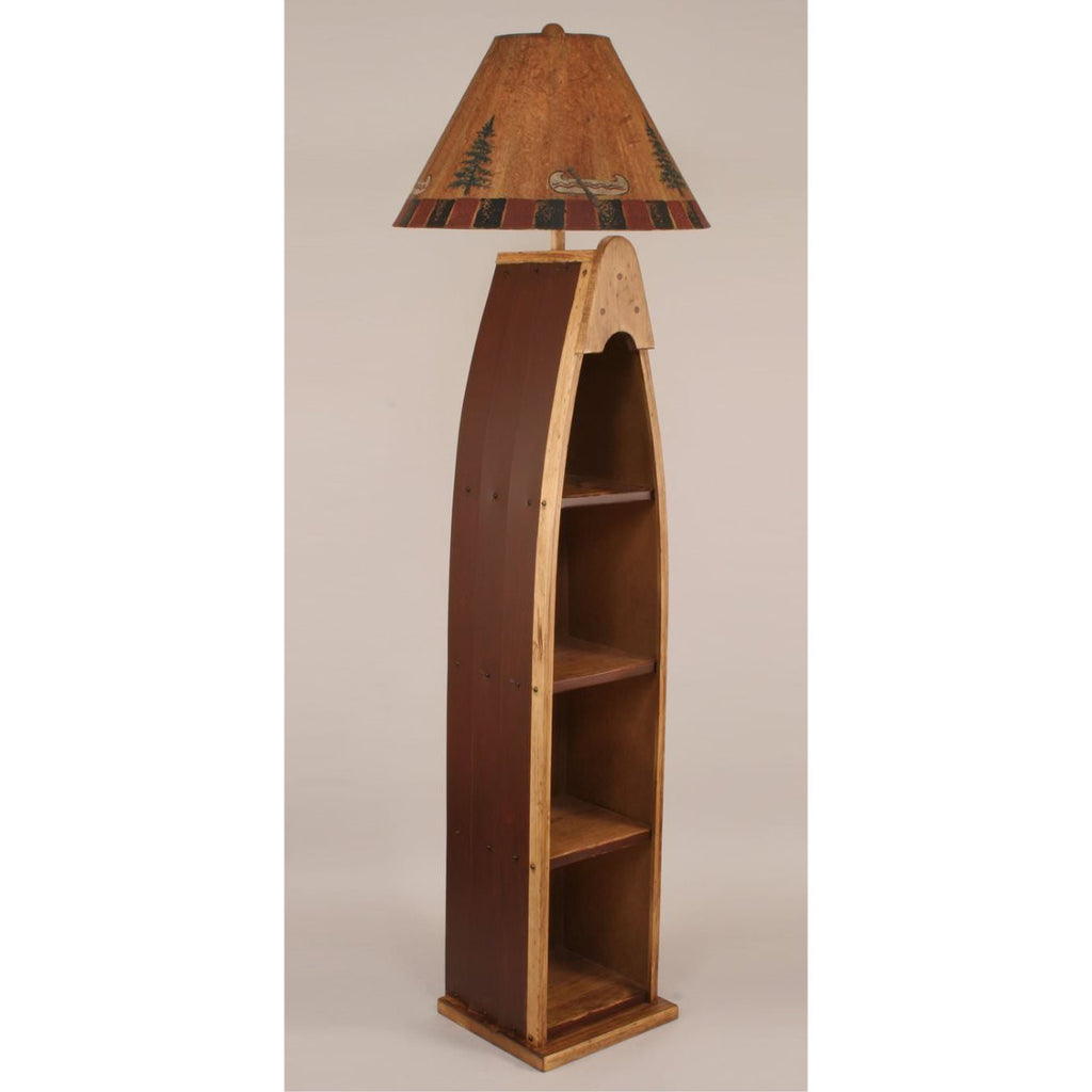 Red wooden boat floor lamp lakecabin depot red wooden boat floor lamp geotapseo Image collections