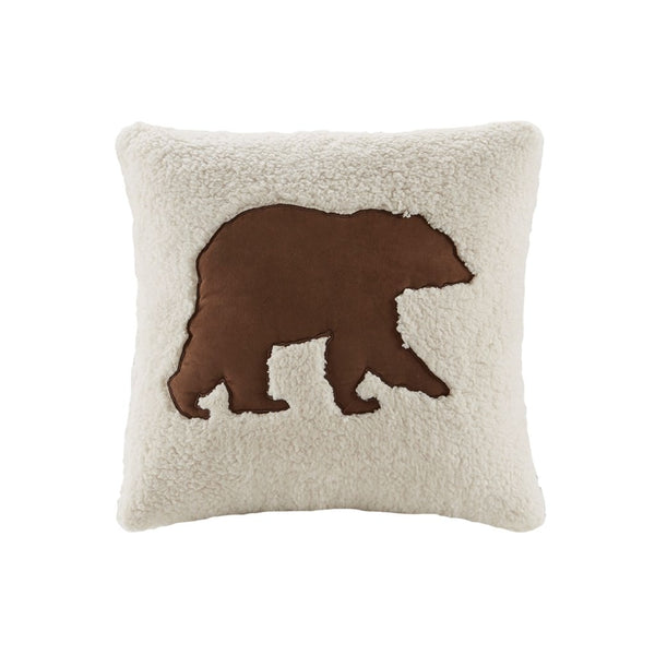 Hadley Plaid Berber Bear Pillow 18 x 18
