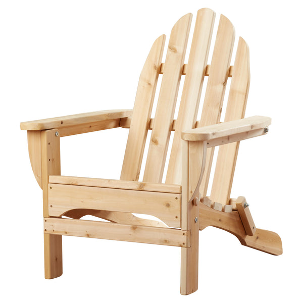 White Cedar Adirondack Chair Side View