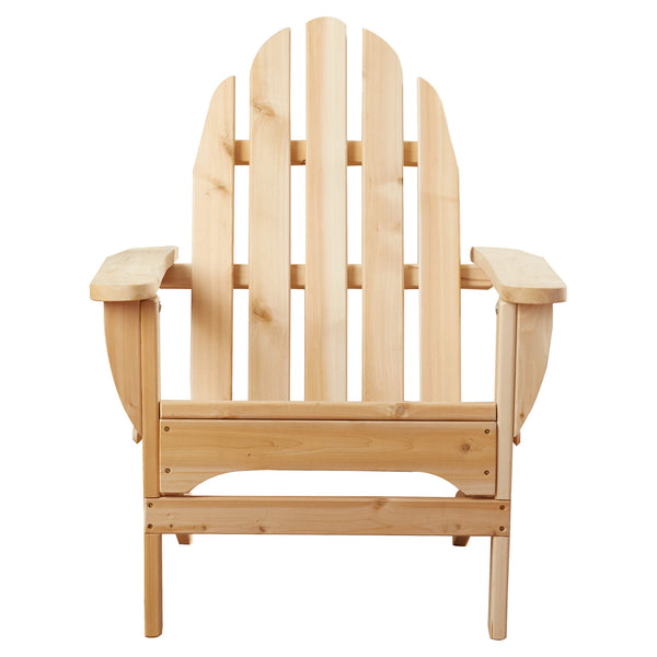 White Cedar Adirondack Chair Front View