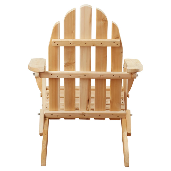 White Cedar Adirondack Chair Back View