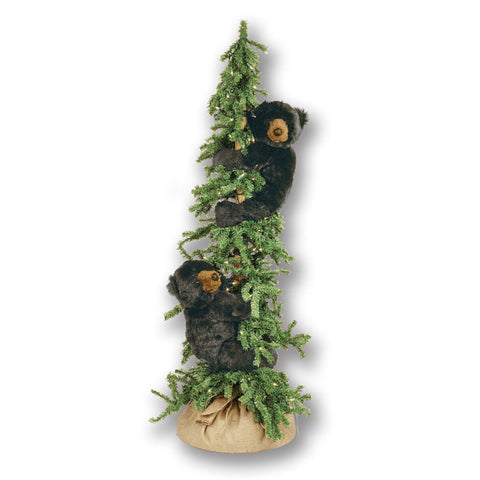 Alpine Frolic Tree Black Bears 72""