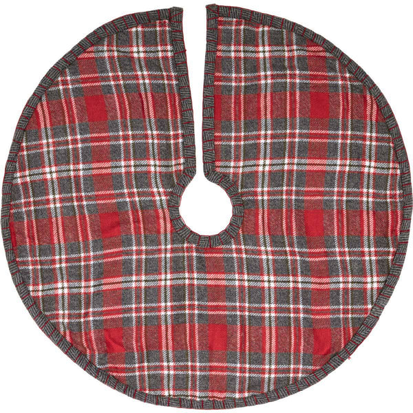 "Anderson Plaid Tree Skirt 21"" Front"
