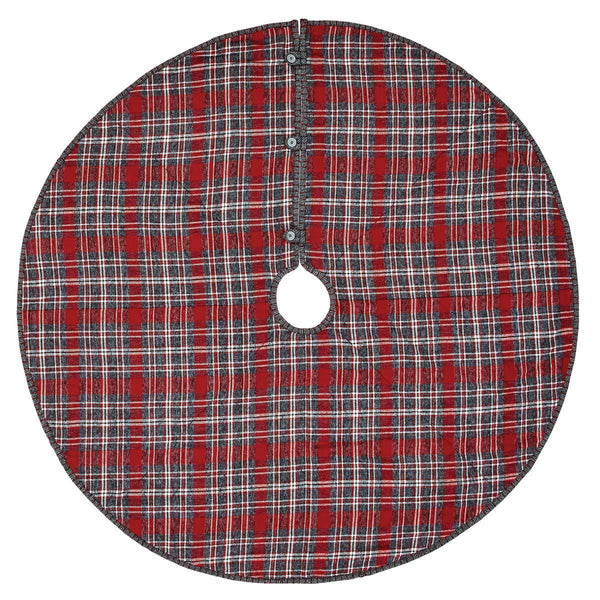 "Anderson Plaid Tree Skirt 48"" Front"