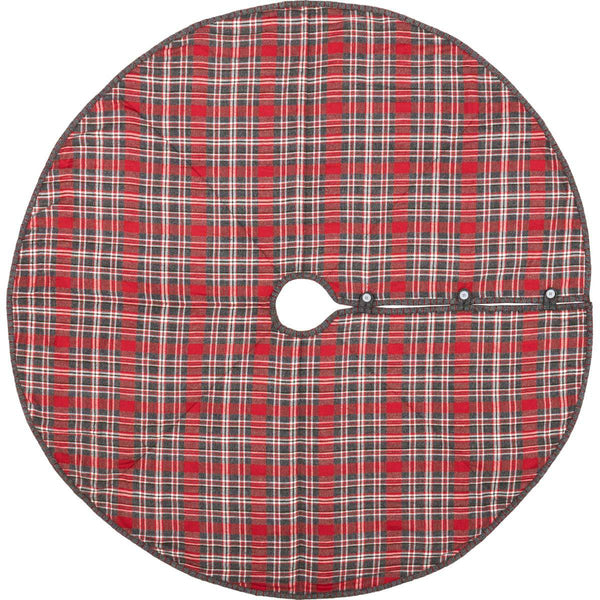"Anderson Plaid Tree Skirt 55"" Front"