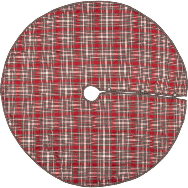 "Anderson Plaid Tree Skirt 60"" Front"