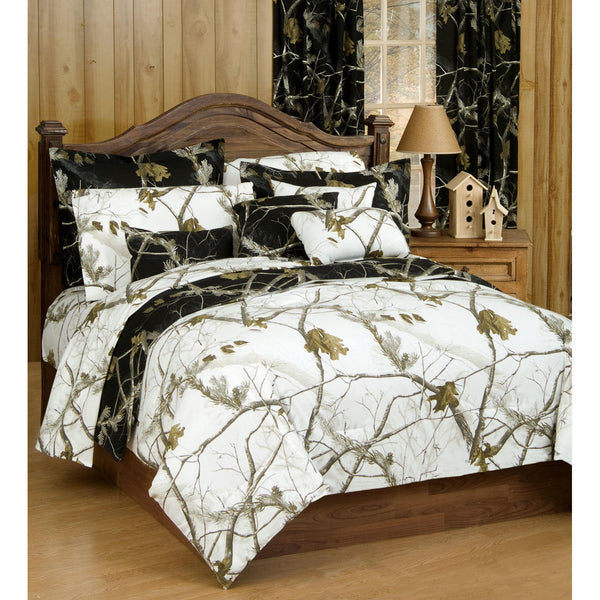 Realtree AP Snow and Black Comforter - White Side