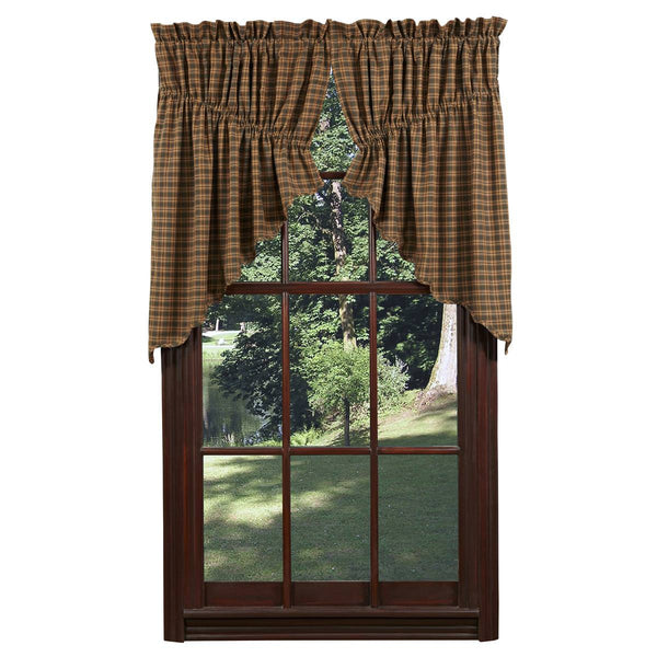 "Barrington Prairie Scalloped Swag Lined Set of Two 36""L x 36""W x 18"" Center Drop"