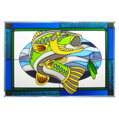 Bass Stained Glass Panel