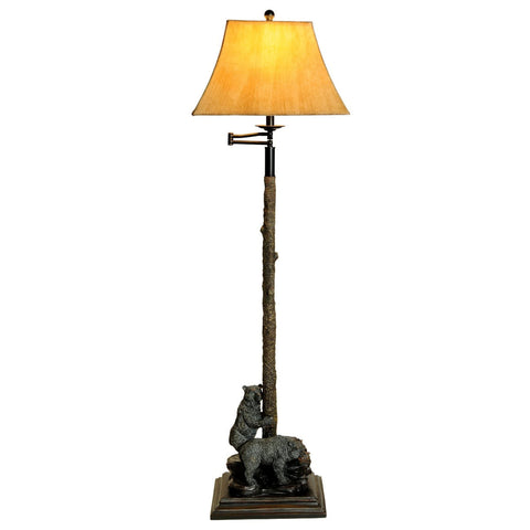Cabin lodge floor lamps nautical floor lamps free shipping bear floor lamp mozeypictures
