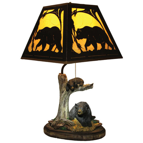 Bear Table Lamp with Metal Shade