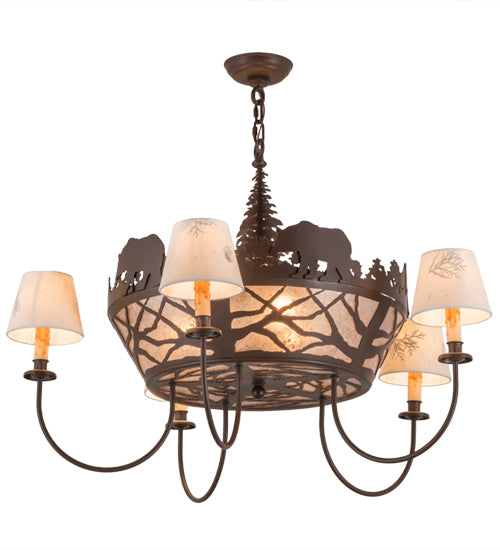 Bear on the Loose Chandelier Side/Bottom View