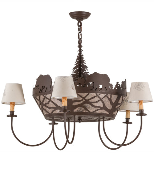 Bear on the Loose Chandelier Lights Off