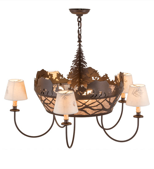 Bear on the Loose Chandelier Side/Top View