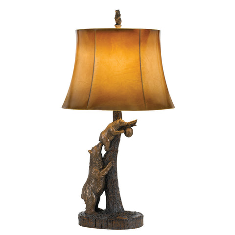 Bear Table Lamp with Leatherette Shade
