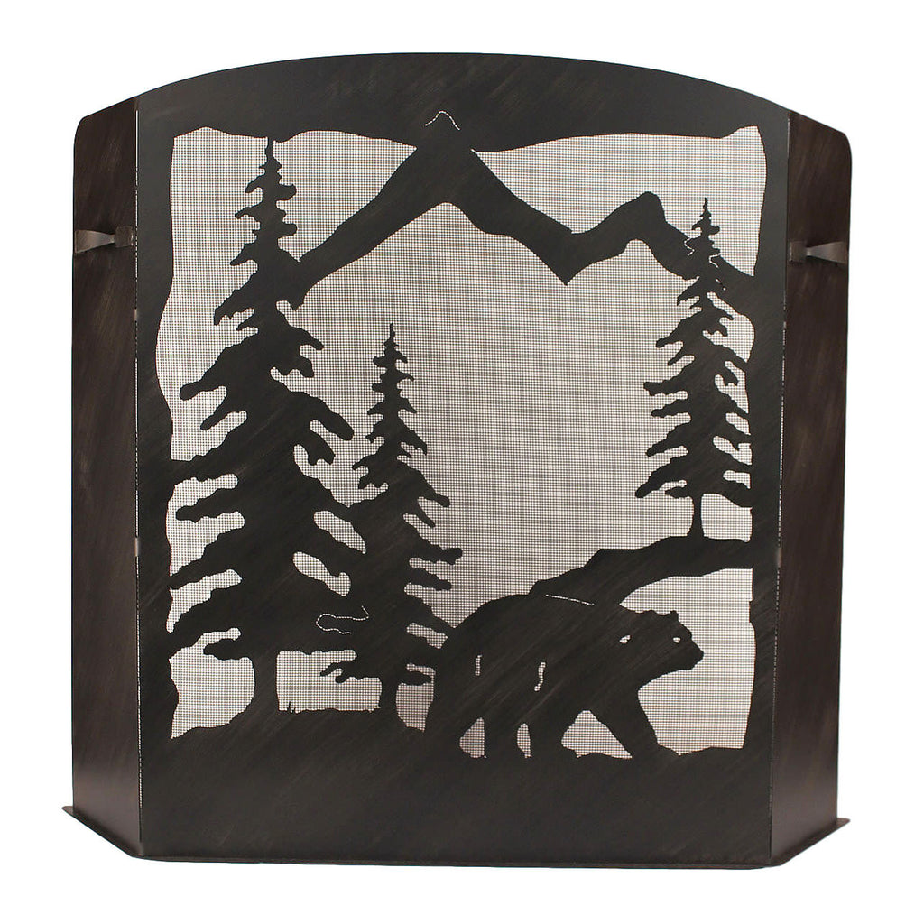 Bear Scene Fireplace Screen