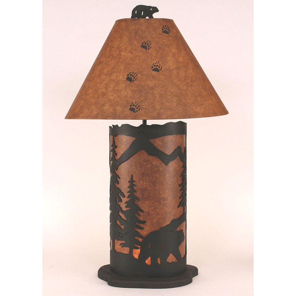 Bear Scene Table Lamp with Night Light
