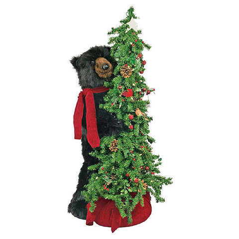 Berry Christmas Tree Black Bear 40""