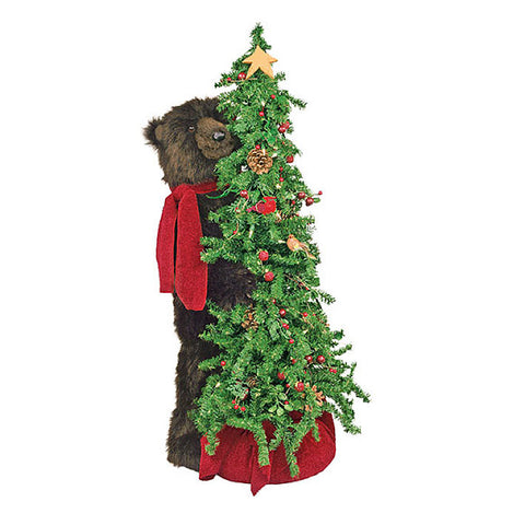 Berry Christmas Tree Grizzly Bear 40""