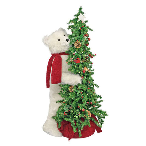 Berry Christmas Tree Polar Bear 40""